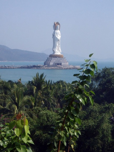 Estátua da Bodisatva Guan Yin do Mar do Sul de Sanya | China